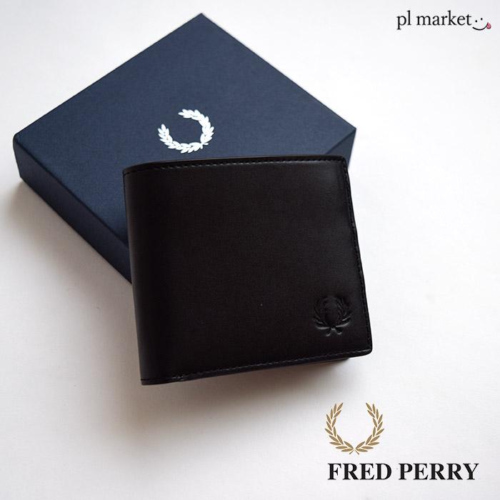 P10倍 フレッドペリー FRED PERRY 財布 メンズ レザー ビルフォールド ウォレット 日本企画(FREDPERRY F19915 Leather Billfold Wallet 二つ折り財布 本革 栃木レザー フレッド ペリー フレッド・ペリー)