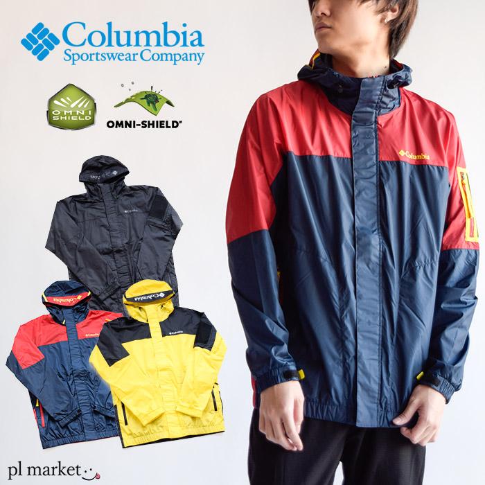 columbia ジャケット Columbia コロンビア トレッキング アウトドア 薄手ジャケット メンズ ジャケット PM3732 Pavlof Road Jacket 防汚 撥水 オムニシールド パッカブル メンズ ライトアウター ナイロンジャケット マウンテンパーカー アウトドア