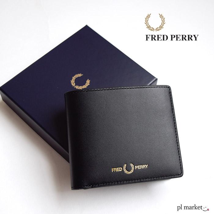 フレッドペリー FRED PERRY 財布 メンズ レディース レザー ビルフォールド ウォレット LEATHER BILLFOLD 本革 二つ折り財布 折りたたみ コンパクト ブラック 黒 フレッド・ペリー ギフト プレゼント 2020 SS 新作 F19939