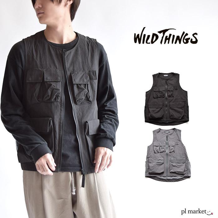 WILD THINGS ワイルドシングス COMBAT VEST コンバットベスト ベスト アウトドア キャンプ 釣り シンプル ポケット メンズ レディース ユニセックス WT20012SN