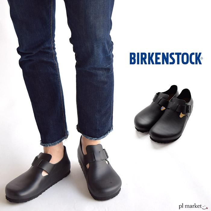 BIRKENSTOCK ビルケンシュトック LONDON/ロンドン ブラックアニリン WOMEN 幅広 レザー シューズ ビルケン ウィメンズ 1016680