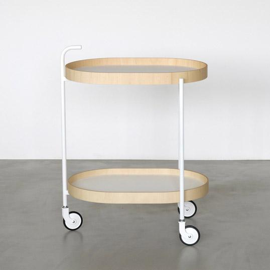MOHEIMTROLLEY whiteキッチンワゴン組立式天然素材インテリアダイニングルームシンプルデザインデザイナーズ家具木のトレー機能性送料無料