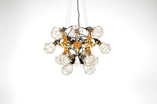kyouei design 共栄デザイン reconstruction chandelier リコンストラクションラシャンデリア照明工業用クリップライト金メッキ送料無料デザイナーズ照明