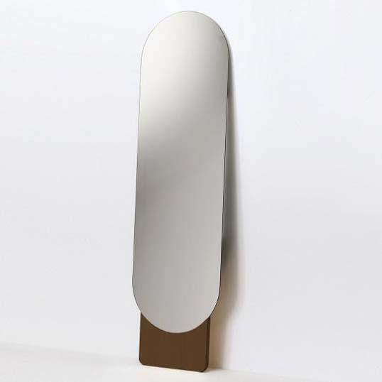 MOHEIMSTANDING MIRROR (ブラウン)スタンドミラーインテリアシンプル優美な丸みを帯びた鏡の形状天然素材送料無料リビングデザイナーズミラーギフト プレゼント