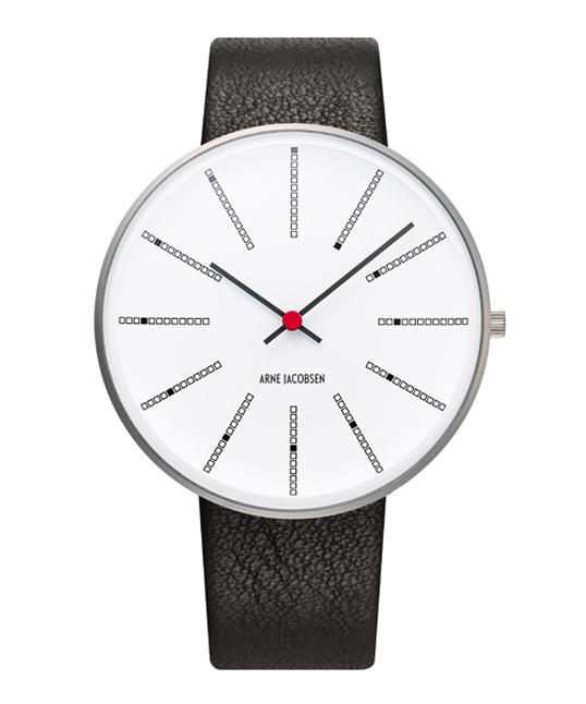 ROSENDAHLARNE JACOBSEN Bankers Watch Lether 40mm腕時計アルネ・ヤコブセンの最高傑作時間をグラフィカルに見せながら優雅なスパイラルを描き、絶え間ない時の流れを表しています。ギフト プレゼント
