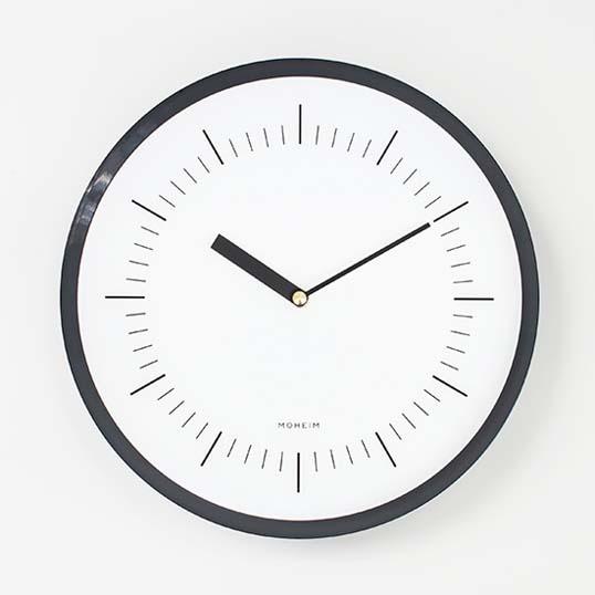 MOHEIMHORN (ネイビー)ウォールクロック壁掛け時計インテリアリビングダイニングキッチン玄関送料無料ギフト プレゼント見る角度によって表情を変えるクロック