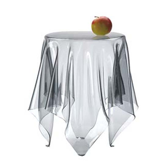 essey Illusion Clearテーブルスクロスを広げたかの様なやわらかなフォルムのサイドテーブルハンドメイドテーブルお取り寄せ商品デザイナーズ家具送料無料インテリア