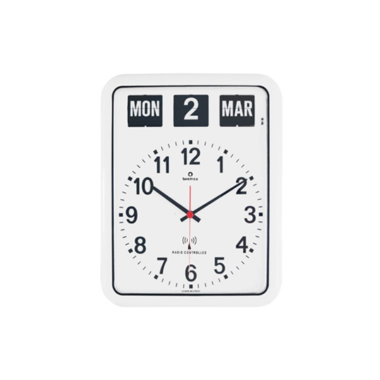 TWEMCO RADIO CONTROL CALENDAR CLOCK RC-12Aトゥエンコラジオコントロールカレンダークロック RC-12A電波時計パタパタクロック壁掛時計ウォールクロック送料無料ミッドセンチュリーインテリア
