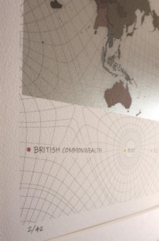 Plottokyo Authagraph Multi Polar World Map Print Lithograph World