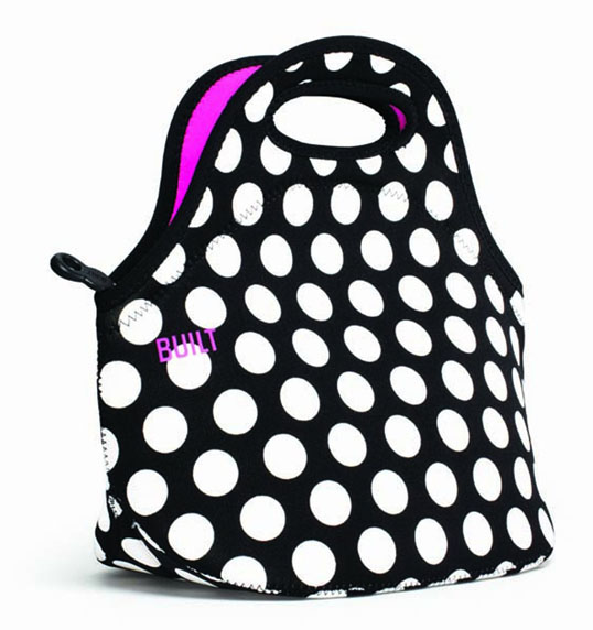 124737 BUILT/BLT gomettobaggu BBW Big Dot Black&White午餐包保溫保冷時尚的no包戶外室內裝飾雜貨伸縮性防水性耐久性午餐時間