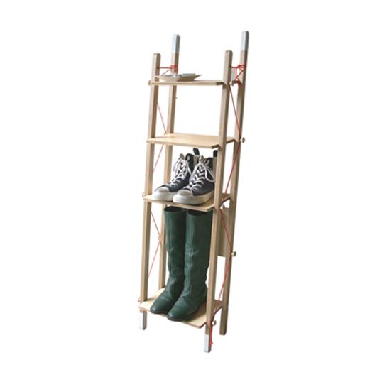 abodeLADDER RACK - Single折畳みできるラックリビングラックデザイナーズ家具送料無料インテリア店舗什器収納家具本 雑誌 靴 ブーツ