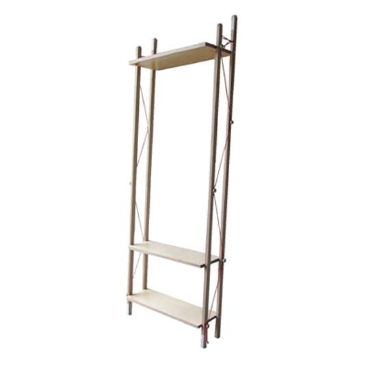 abode / LADDER RACK - Tall折畳みできるラック上段の棚板にはハンガーが掛かりますデザイナーズ家具送料無料玄関リビング収納収納家具本や雑誌、靴の収納
