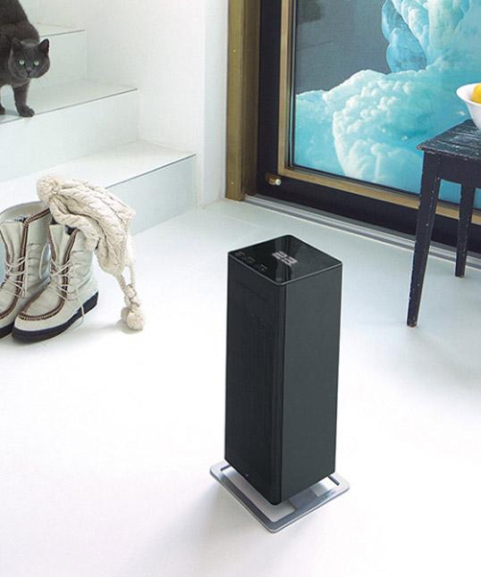 Stadler Form/Anna BIG ファンヒーター ブラックタッチパネル式ファンヒーターハイパワー温風Adaptive heatPTCヒーター搭載省エネ風量8段階調整リビングデザイン家電送料無料