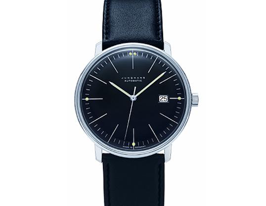 Max bill / マックスビル Automatic Wrist Watch Line Blackモデル027 4701.00 腕時計 デザイナーズウォッチ ユンハンス ドイツ 受注生産品 送料無料 カーフスキン 自動巻ムーブメント