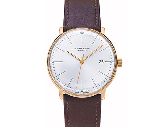 Max bill / マックスビル Automatic Wrist Watch Line Whiteモデル027 7700.00 腕時計 デザイナーズウォッチ ユンハンス ドイツ 受注生産品 送料無料 カーフスキン 自動巻ムーブメント