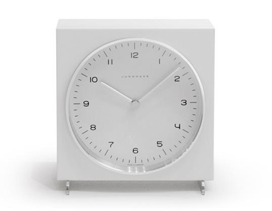 Max bill / マックスビル Table Clock Whiteユンハンス テーブルクロック ホワイト置時計ギフト プレゼントインテリアスイス送料無料