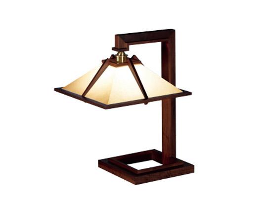 Frank Lloyd Wright(フランクロイドライト)「TALIESIN 1(タリアセン1)」ウォルナット照明器具テーブルライトフロアライトインテリア送料無料シリアルナンバー1995年グッドデザイン賞受賞