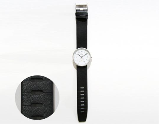 BRAUN棕色人表BNH0024/[皮革]  WH/BK手錶禮物禮物男女兼用形式上的休閒的手表