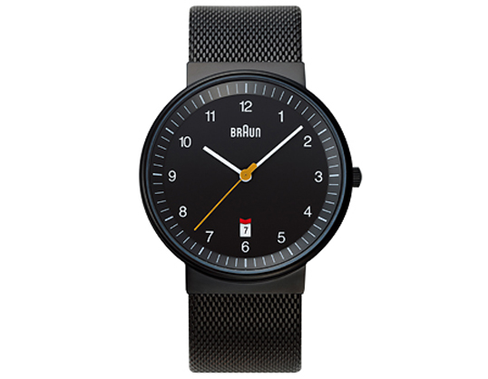 BRAUNブラウン メンズウォッチ BNH0032 [ステンレスメッシュ] ブラック 腕時計 送料無料ギフト プレゼントフォーマル・カジュアルリストウォッチシリーズステンレスメッシュバンド