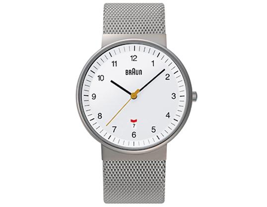 BRAUNブラウン メンズウォッチ BNH0032 [ステンレスメッシュ] ホワイト 腕時計 送料無料ギフト プレゼントフォーマル・カジュアルリストウォッチシリーズ