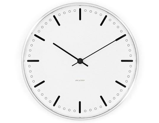 ROSENDAHL Arne Jacobsen アルネ・ヤコブセン Cityhall Clock 210mmウォールクロック シティーホール 210mmローゼンダール送料無料壁掛時計ギフト プレゼントやや小さめで一人暮らしに適したサイズインテリア