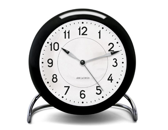 ROSENDAHL Arne Jacobsen アルネ・ヤコブセン テーブルクロック ステーションローゼンダール送料無料リビング 寝室ギフト プレゼントインテリア卓上時計アクリル LEDライト スヌーズアラームクロック