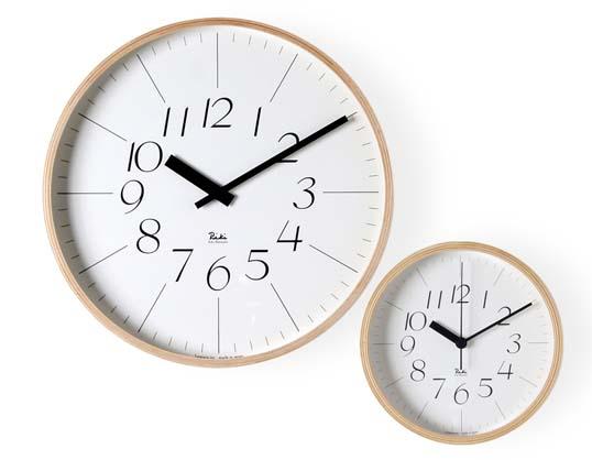 リキクロック 細文字 LLサイズグッドデザイン賞受賞の人気No.1クロックウォールクロック壁掛時計インテリアギフト プレゼントプライウッド木製フレーム送料無料