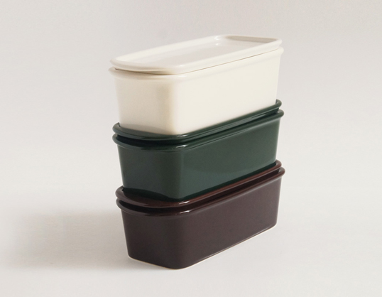 Ceramic Japan/陶瓷器日本她最好S尺寸罐系列保存容器廚房用品堆積微波爐使用可的瓷器荻野克彦