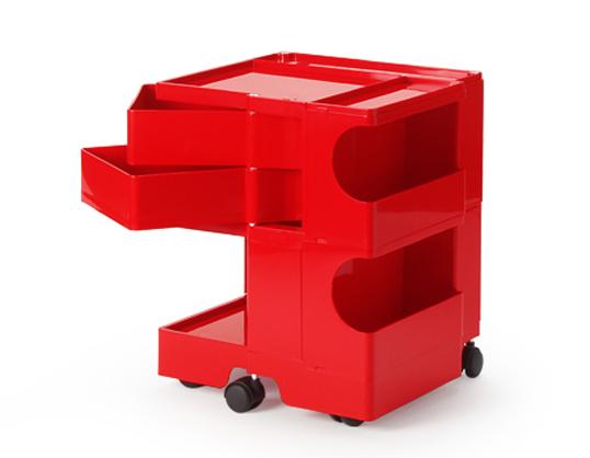 ボビーワゴン 2段2トレイ レッド 送料無料 ジョエ・コロンボ イタリア MoMAパーマネントコレクションキャスター付ワゴン多機能ワゴンインテリアキッチン リビングロングセラープラスチック製
