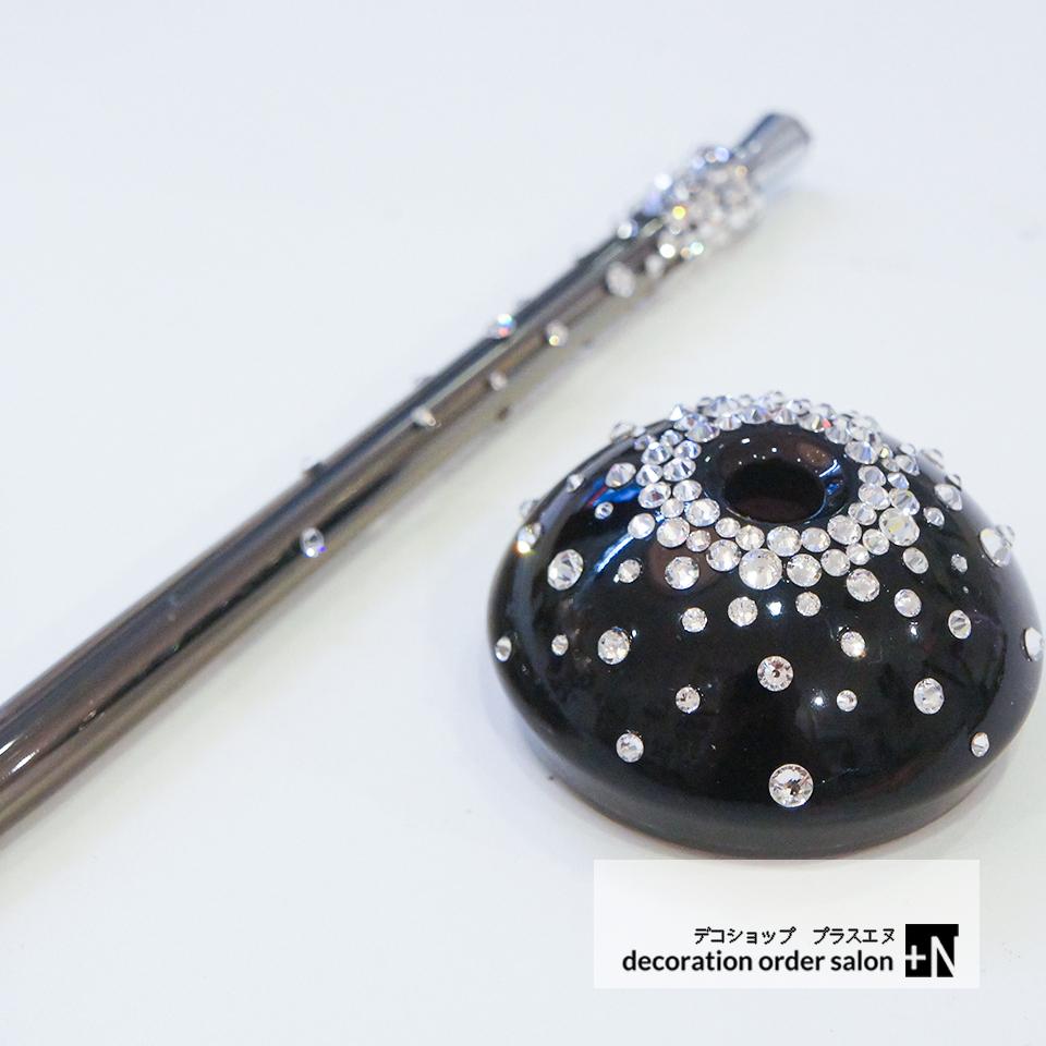 便利なボールペン お仕事も楽しく書きやすいです スタンドボールペン スワロフスキー キラキラ プレゼント 必需品 値引き 希望者のみラッピング無料 オフィス用品 ブラック