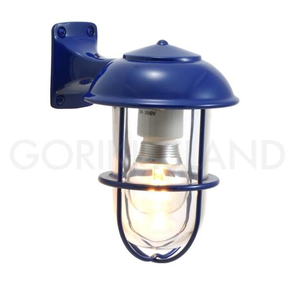 照明 エクステリアライト LED仕様 ネイビー(青色)BR5000 NV CL LE 送料無料