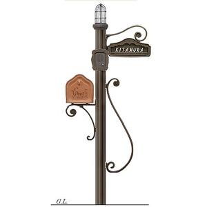 機能門柱+ポスト シャルルポール16Cセット(郵便ポスト+ポール+表札+インターホンカバー)送料無料