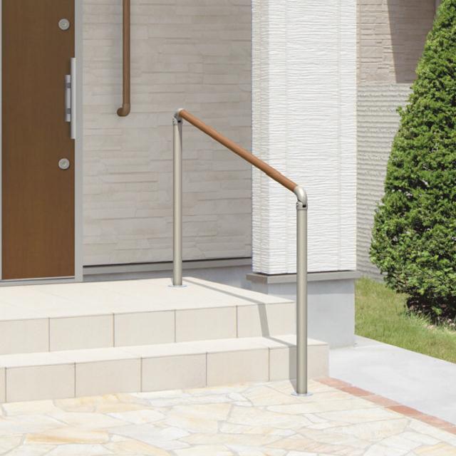 玄関手すり 手摺り エトランポS 1スパンセット 笠木目板 埋め込み支柱タイプ