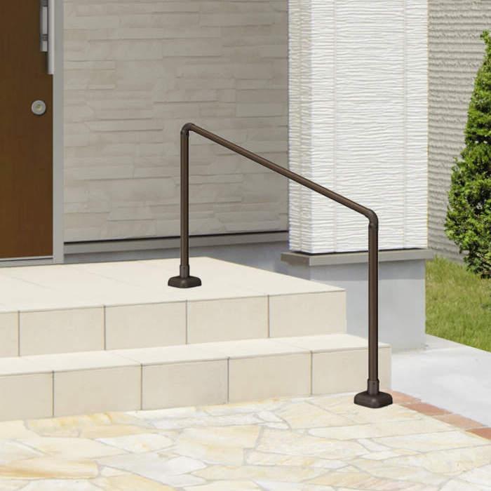 玄関手すり 手摺エトランポS 1スパンセット 笠木目板ベースプレート支柱タイプ