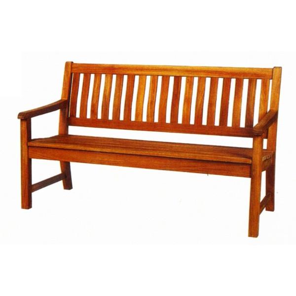 ガーデンチェアー ラウンドハウス ベンチ 150 オイル加工なし チーク材 お庭向けの椅子 ハラダ 【送料無料】