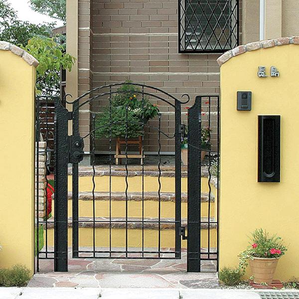 門扉 アルミ鋳物門扉 アールI型W750 内開きタイプ ディーズガーデン門扉 送料無料