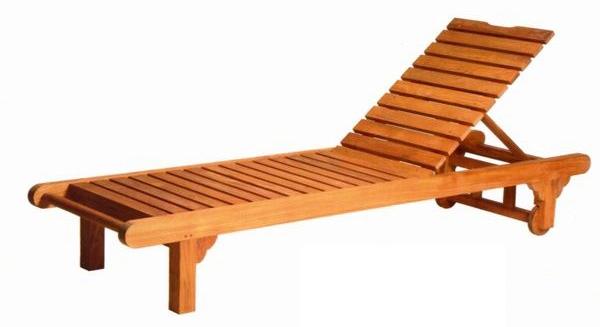 ベンチ ロンガー オイル加工なし チーク材 お庭向けの椅子・ガーデン チェアー