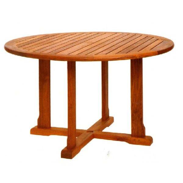 ガーデンテーブル バンドゥンテーブル 大 オイル加工なし チーク材 お庭向け