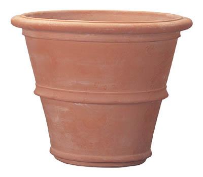 シンプルでベーシックな鉢植え(はちうえ) フラワーポットやベジタブルプランター、鉢カバーにおしゃれなガーデニング用の植木鉢(通販) テラコッタ製プランター ベノッチ ツリーポット 27L 底穴あり 送料無料