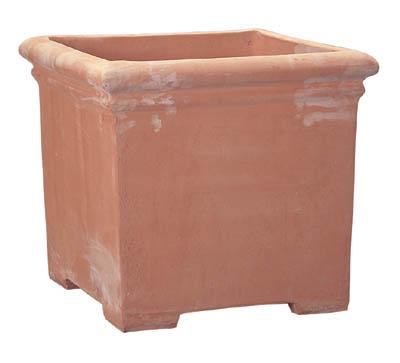 シンプルでベーシックな鉢植え(はちうえ) フラワーポットやベジタブルプランター、鉢カバーにおしゃれなガーデニング用の植木鉢(通販) テラコッタ製プランター ベノッチ タブポット 足付 56L 底穴あり 送料無料