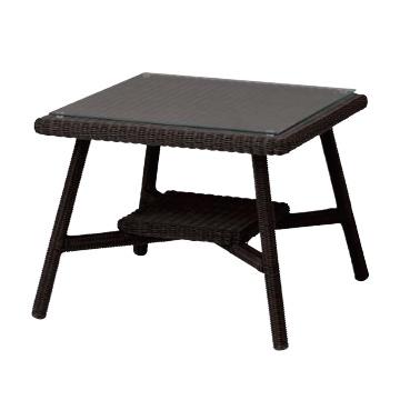 庭座 カフェテーブル600 ダークブラウン 送料無料