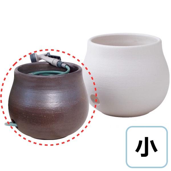 和風のホースキーパー 小 通し穴あり 陶器製ガーデン用品 送料無料