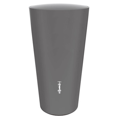 雨水タンク レインボウル ダークグレー 取水器+蛇口セット 送料無料