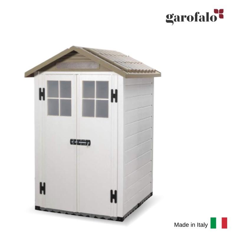 おしゃれ 物置 屋外 小型 小屋 倉庫 庭 収納庫 トスカーナエヴォ120(W1225mm) イタリア製 プラスチック樹脂製ガーデン物置 置き配 宅配ボックス送料無料