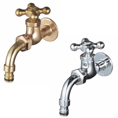 蛇口 Hシリーズ 自在蛇口・ホースアダプター一体型 立水栓向け飾り蛇口 固定コマ仕様