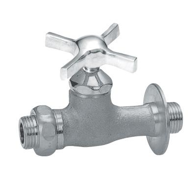 蛇口 Nシリーズ 補助蛇口 ウェッジクロス ベロアメッキ 立水栓向け飾り蛇口 送料無料