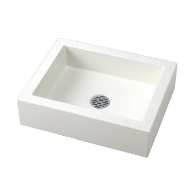 水受け シンプルパン 角 ホワイト 送料無料