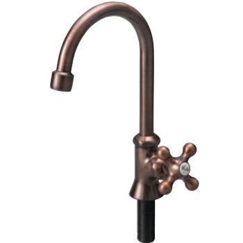 蛇口 ブロンズスワンネックB ガーデンシンク向けの水栓・蛇口 送料無料