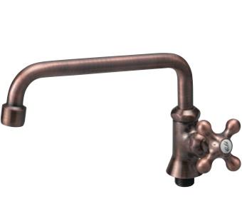 蛇口 ブロンズロングアーム ガーデンの水栓柱(立水栓)向け水栓・蛇口 送料無料