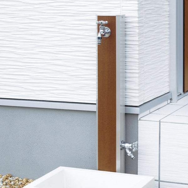 立水栓ユニット フォギータイプA 補助蛇口仕様 手洗い場 外 水道 おしゃれ 外水栓 送料無料